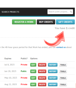 How to gift a credit at Write Vault