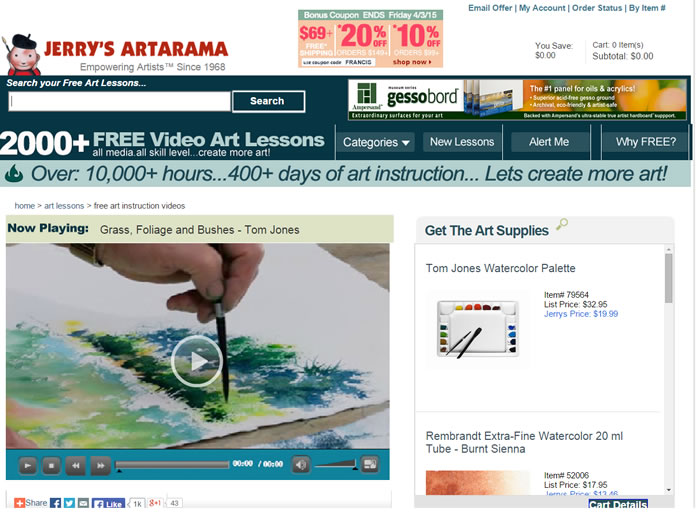 JerrysArtarama - Lesson Library
